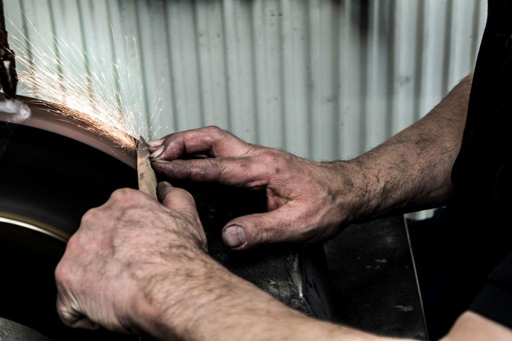 Reparatur und Schliff